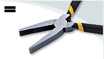 Flat Nose Pliers with spring