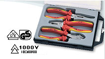 3 PCS VDE Pliers Set