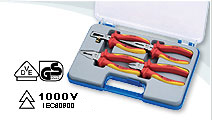 4 PCS VDE Pliers Set